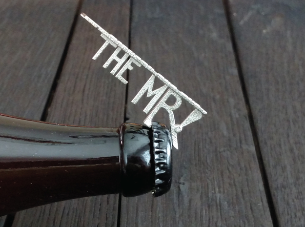 The Mr Bottle Opener Keychain in Polished Nickel Steel