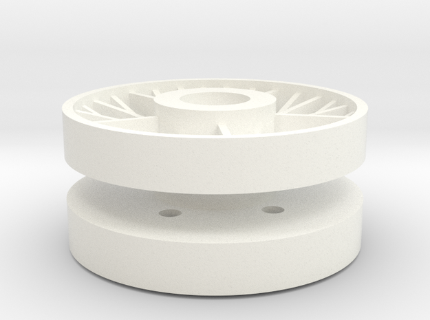 IS ISU Wheel 1/16 in White Strong & Flexible Polished