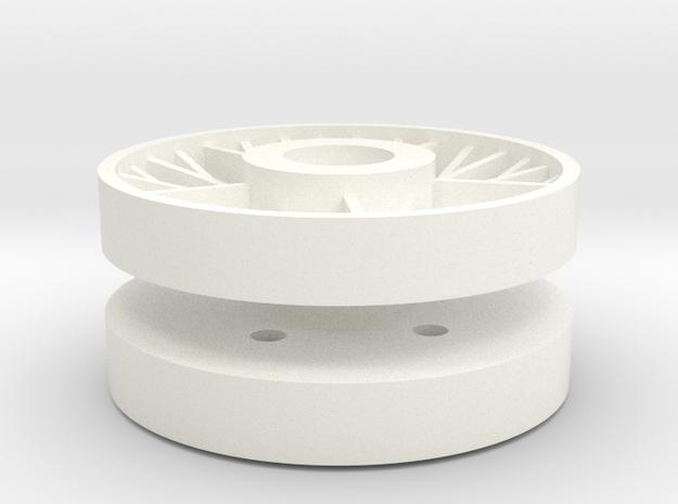 IS ISU Wheel 1/16 in White Processed Versatile Plastic