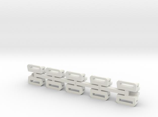 Conderman seat N scale+20% in White Natural Versatile Plastic