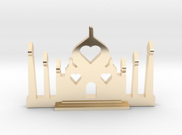 Taj Mahal- Pendant in 14k Gold Plated Brass