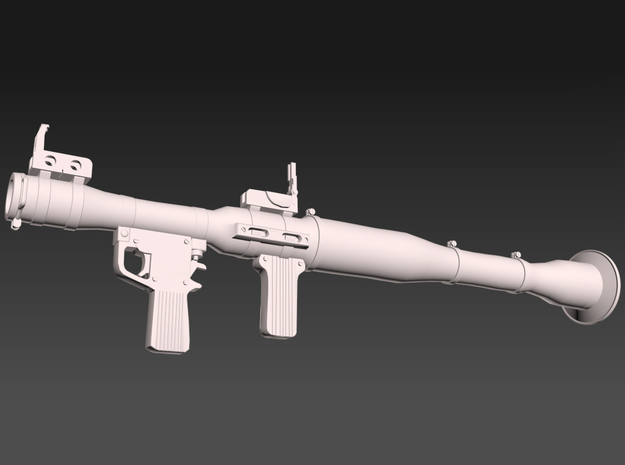 1:16th scale RPG launcher in Frosted Extreme Detail