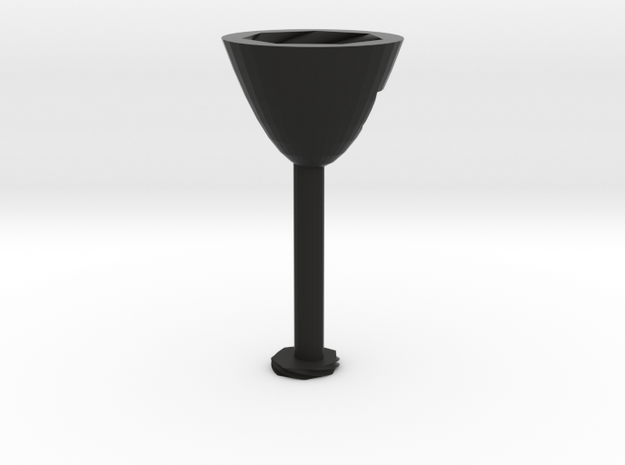 Abstact Wine Glass  in Black Strong & Flexible