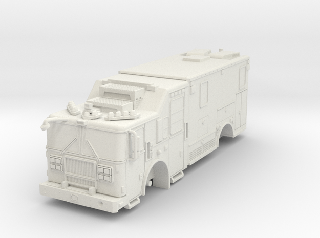 1/64 FDNY seagrave communication truck in White Natural Versatile Plastic