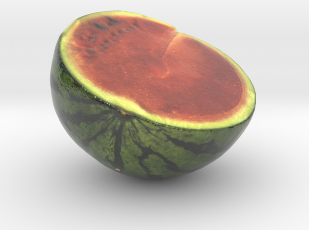 The Watermelon-2-Half-mini in Glossy Full Color Sandstone