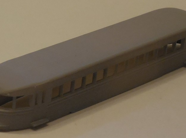 N Scale Brill Bullet Body Shell in Smooth Fine Detail Plastic