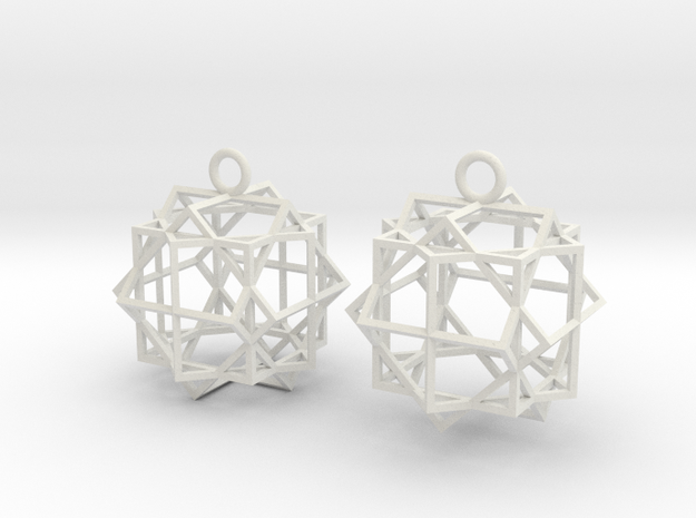 Cube square earrings type 1