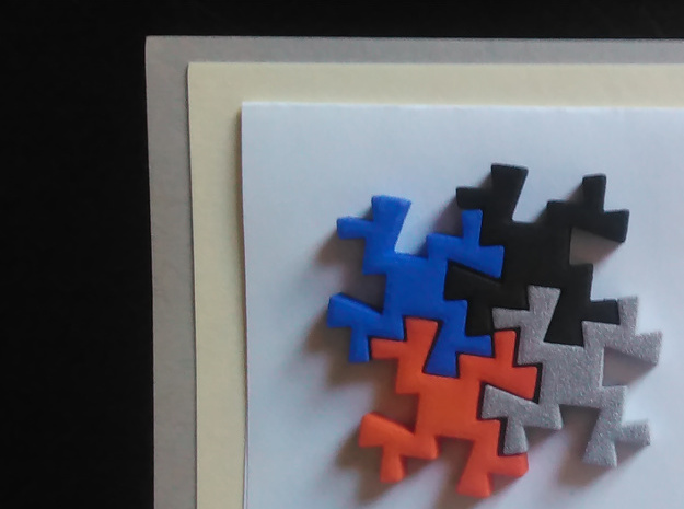 Taino Puzzle Piece in White Strong & Flexible