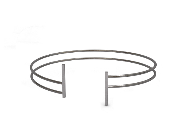 Bracelet in Polished Nickel Steel