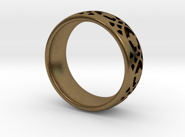 Wedding Ring Model A Ø0.669 inch/Ø17mm in Natural Bronze