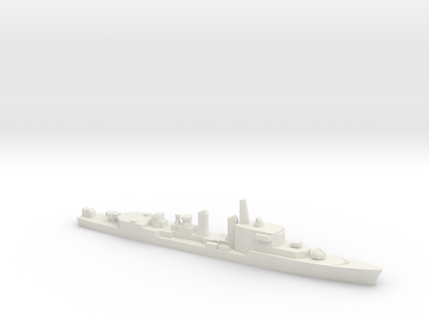 T47 Class ASW Destroyer (1968), 1/1800 in White Natural Versatile Plastic