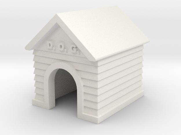 Doghouse - 'O' 48:1 Scale in White Natural Versatile Plastic