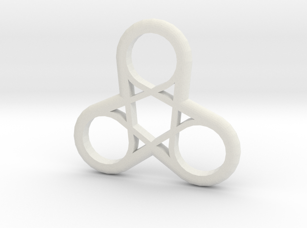 Triple Loop Pendant in White Natural Versatile Plastic