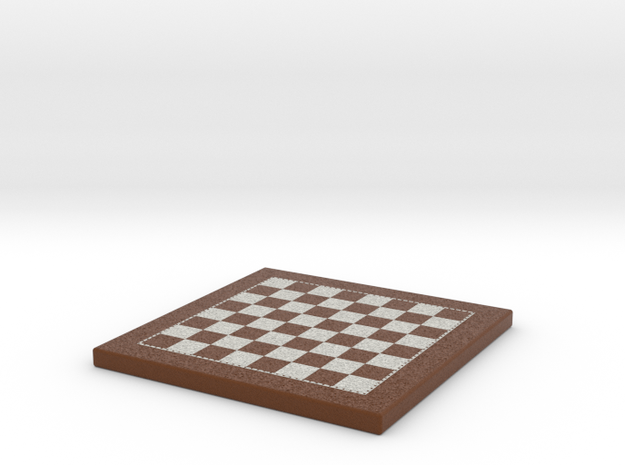 Chess Board 1/12 Scale In Frame in Full Color Sandstone