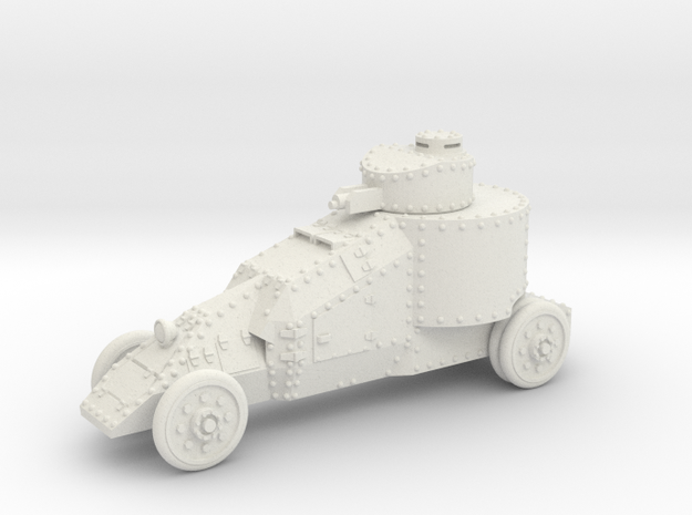 Benz-Mgebrov Armoured Car (15mm) in White Natural Versatile Plastic
