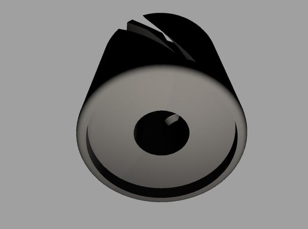 Knob Spiral small 3d printed