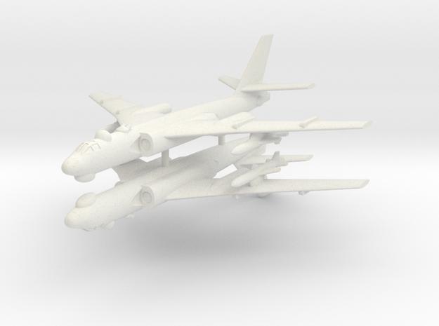 1/350 TU-16 Badger (x2) (Landing Gear Up) in White Natural Versatile Plastic