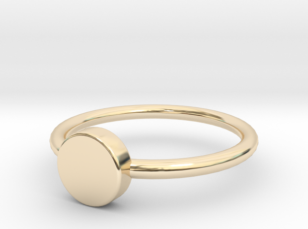 Button Ring Size 5 in 14K Gold