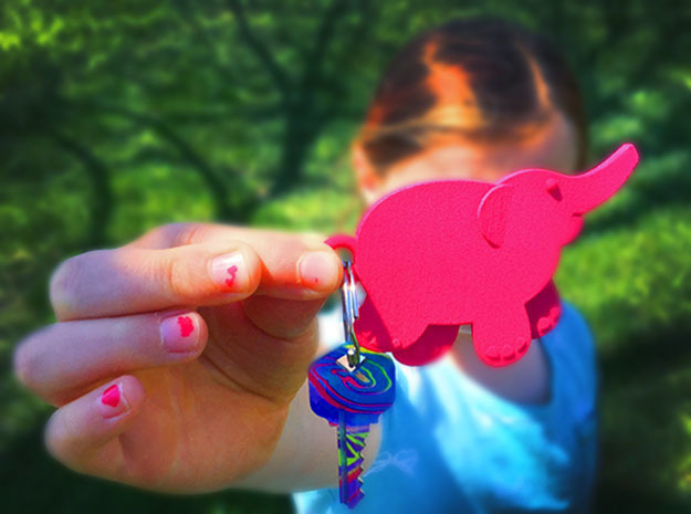 Baby Elephant in Pink Strong & Flexible Polished