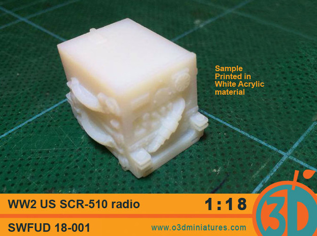 WW2 US radio SCR - 510 1/18 scale  SWFUD-18-001 in Smooth Fine Detail Plastic