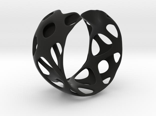 Bracelet 24-4-2016-1 in Black Strong & Flexible