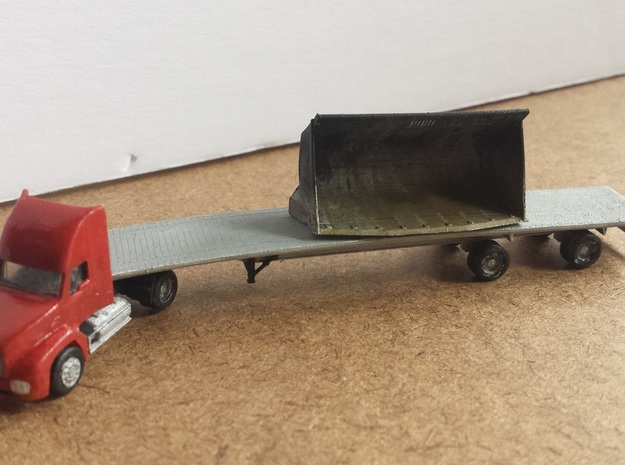 Loader Bucket N Scale Load 3d printed