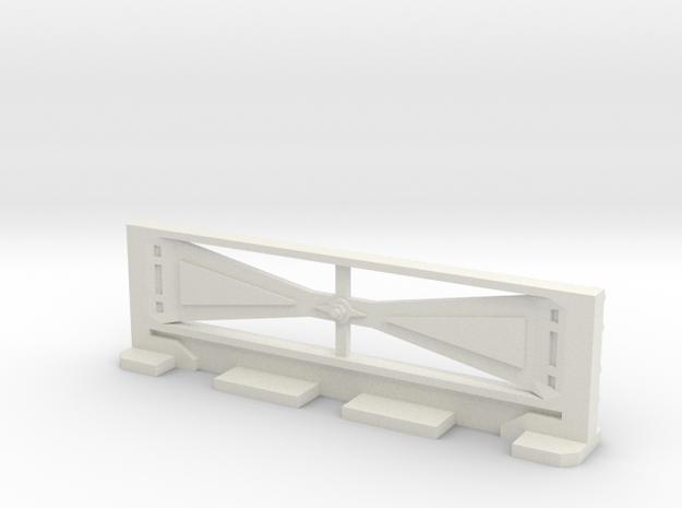 Basic Bulkhead Rail 2  in White Natural Versatile Plastic