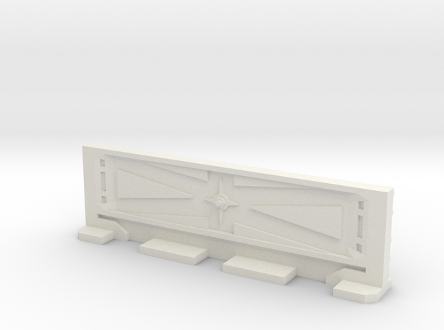 Basic Bulkhead Rail 3  in White Strong & Flexible