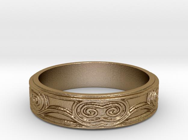 Swirl - US 11 in Polished Gold Steel