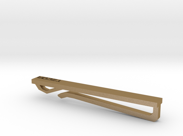 Tie Bar in Polished Gold Steel