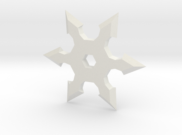 Shuriken Star 10cm in White Natural Versatile Plastic