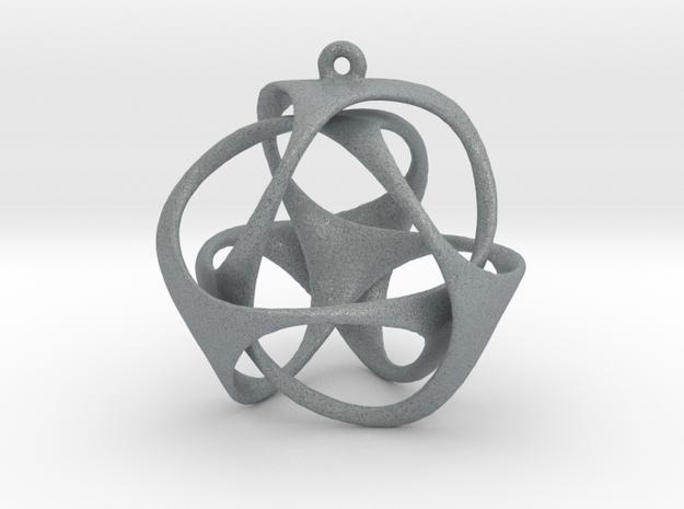 Triloop Pendant in Polished Metallic Plastic