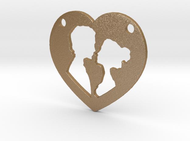Love in Matte Gold Steel