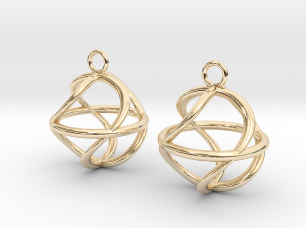 Twist ball earrings