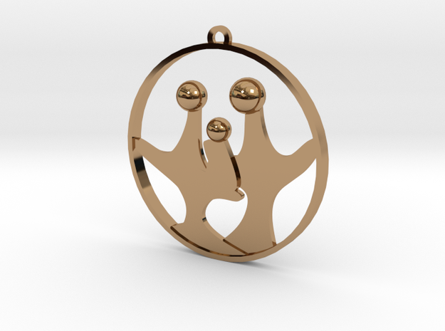 Family O Three in Polished Brass