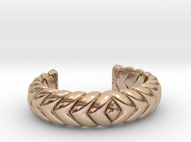 V CUFF 2016 EXTRA SMALL in 14k Rose Gold Plated Brass