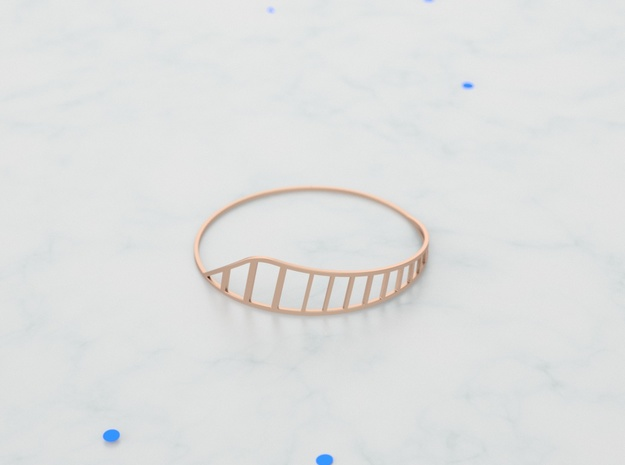 Cage in 14k Gold Plated Brass