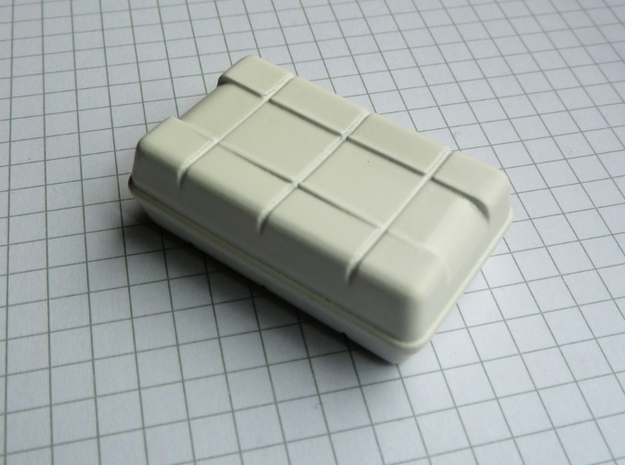 "Life Raft square 1/25 (1 pc.) 3d printed Life raft in ""White Detail"". Slightly sanded, primed and painted gives a nice surface without much work."