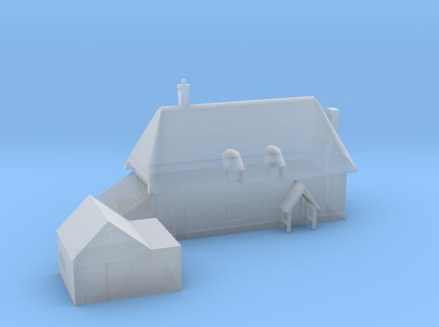 1:700 Scale Parham Village House in Smoothest Fine Detail Plastic