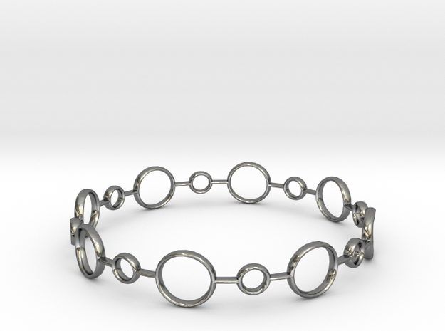 Circle Bracelet in Fine Detail Polished Silver