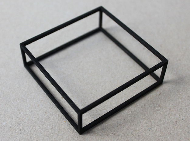 CUBE - bracelet - 4P in Black Natural Versatile Plastic