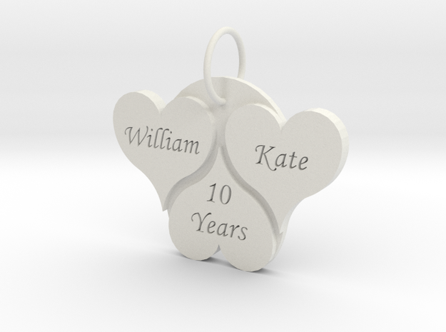 Anniversary Pendant in White Strong & Flexible
