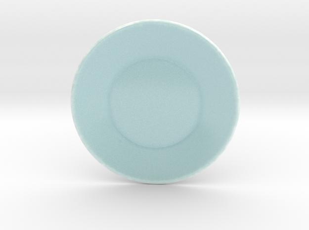 Celadon Selfie Round Saucer  in Gloss Celadon Green Porcelain