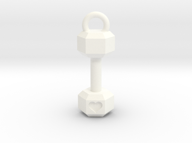 Mini Dumbbell charm with Heart Detail