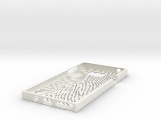 Final Note5 Fingerprint in White Natural Versatile Plastic