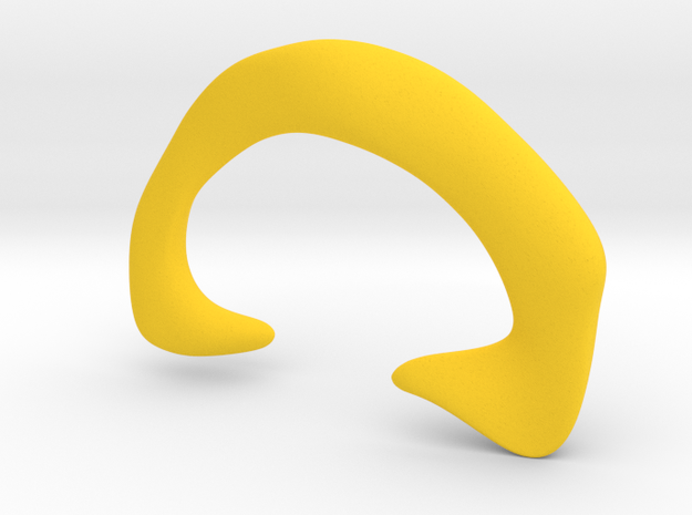 Cleromancy Token - Hearing/Communication/Discussio in Yellow Strong & Flexible Polished