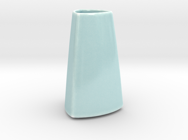 DRAW vase - A ceramic in Gloss Celadon Green Porcelain