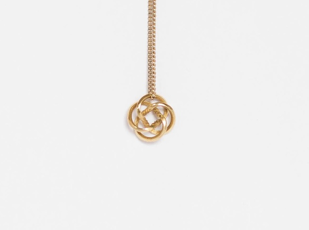 "Tiny Knot Pendant ""Math Beauty"""