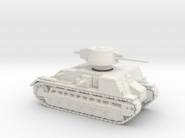 Vickers Medium Mk.C (1:100 scale) in White Natural Versatile Plastic