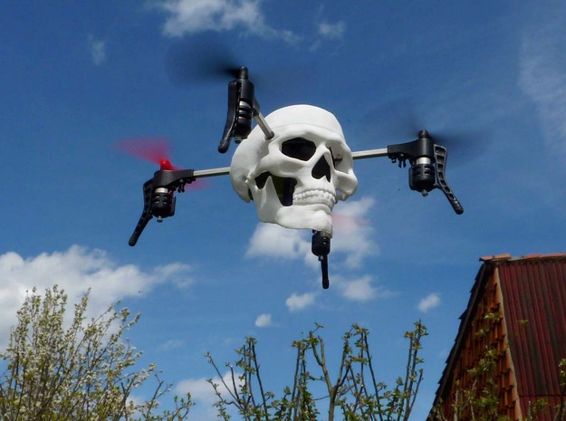 Skull case for Micro Drone 3.0 in White Natural Versatile Plastic